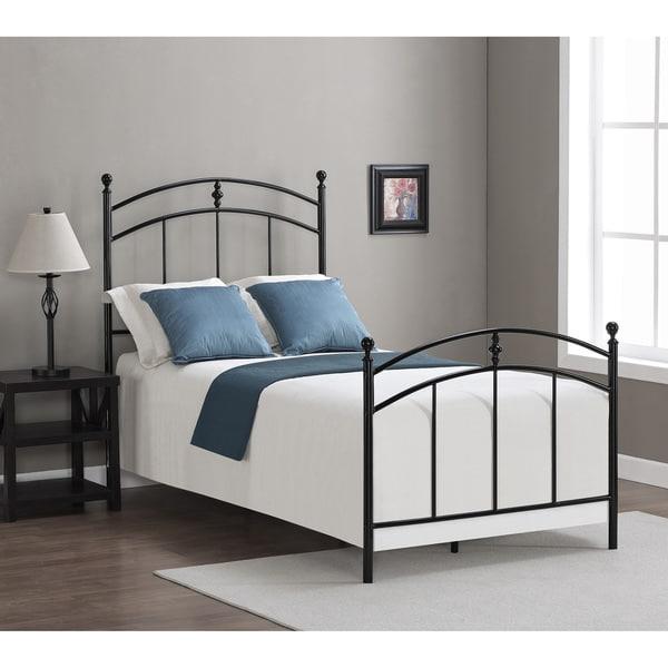 Pogo Black Licorice Finish Twin Size Bed Frame Overstock
