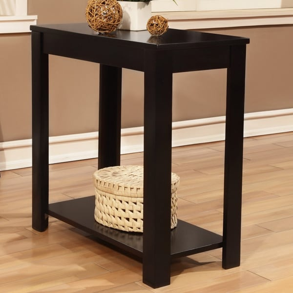 Black Wooden Chair Side End Table 15572402 Overstock