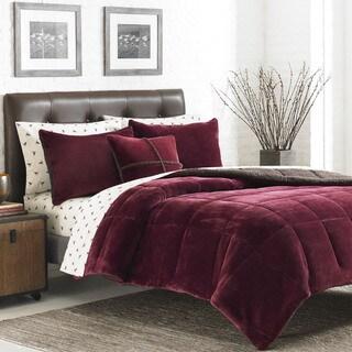 Eddie Bauer Premium Fleece 3 Piece Reversible Comforter