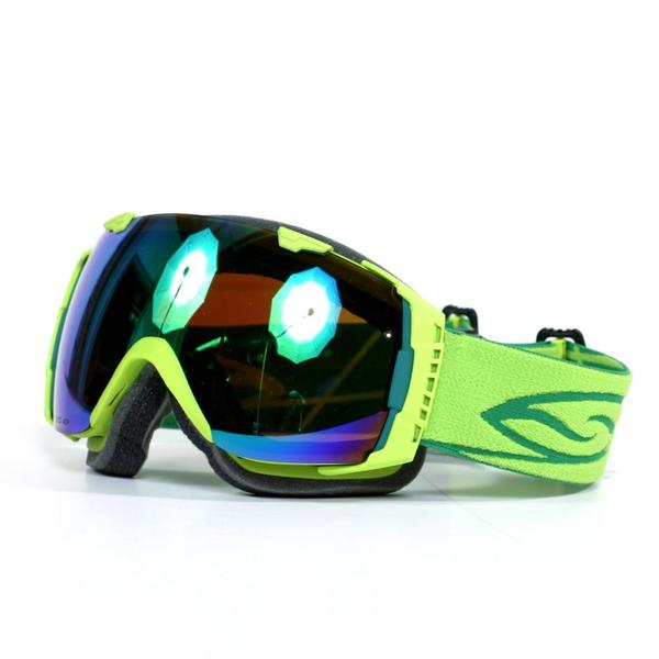 1783b5511c3 Smith I O Vaporator Goggles in Lime with Green Sol X Mirror Lenses Smith  Optics Goggles