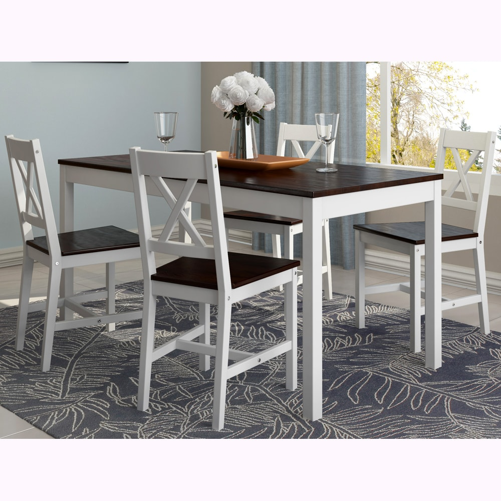 CorLiving Cappuccino/ White Dining Table (Set Of 5