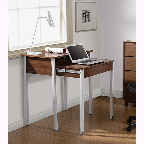 Space Saving Built In Office Furniture In Corners: Modern Design Space-saving Retractable Student Desk