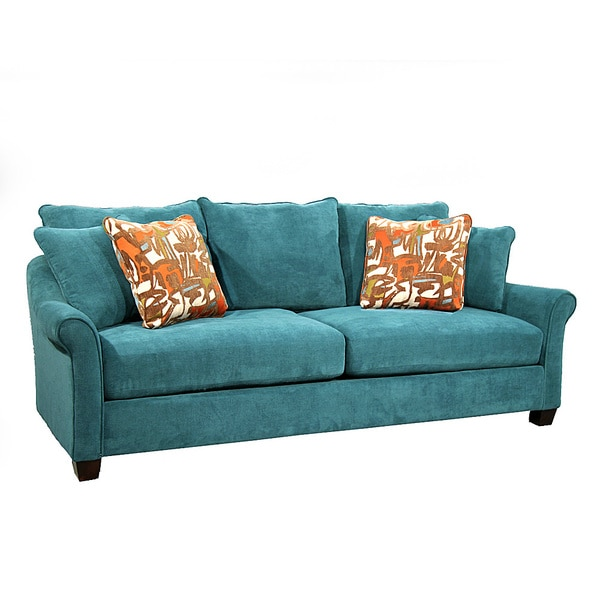 Isabella Teal Sofa 15595569 Overstock Com Shopping