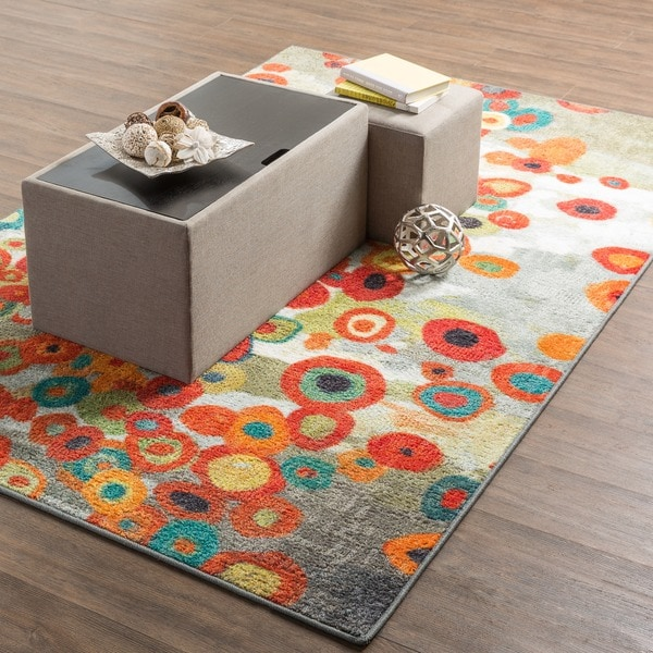 Mohawk Home Tossed Floral Multicolored Area Rug 8 X 10