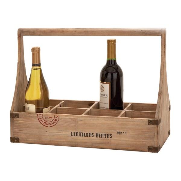Wood Wine Basket Unique Home Accents
