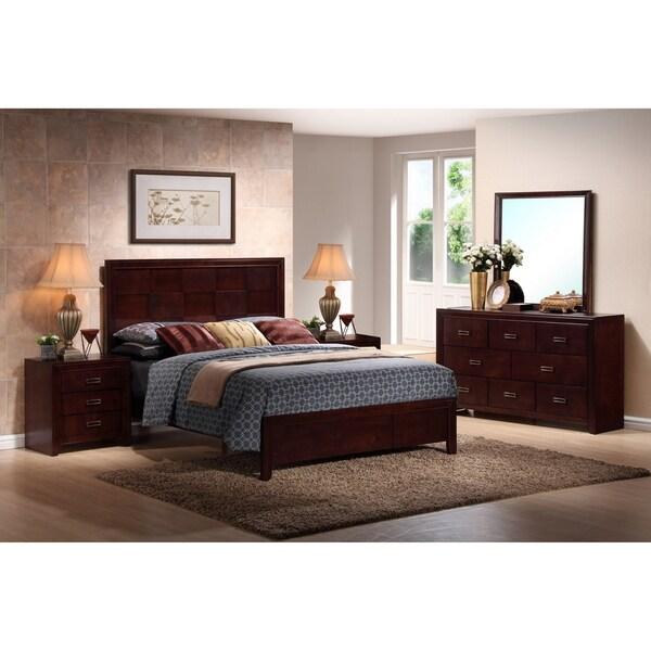 5 Modern Bedrooms: Trowbridge Cherry 5-Piece Modern Bedroom Set