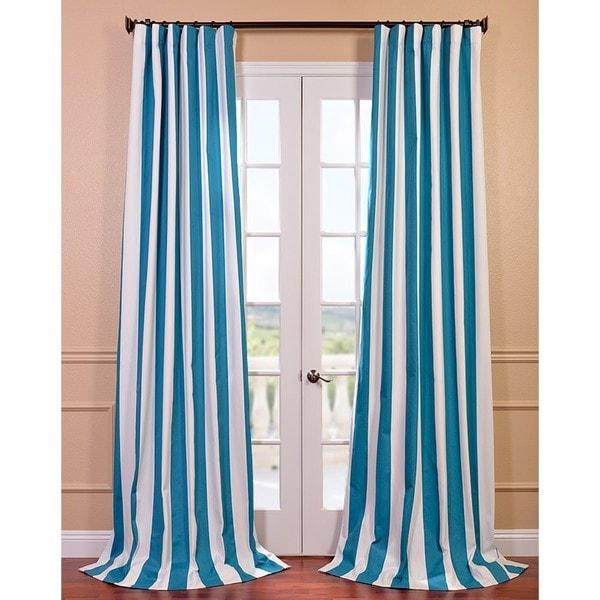 Cabana Teal Printed Cotton Curtain Panel Overstock