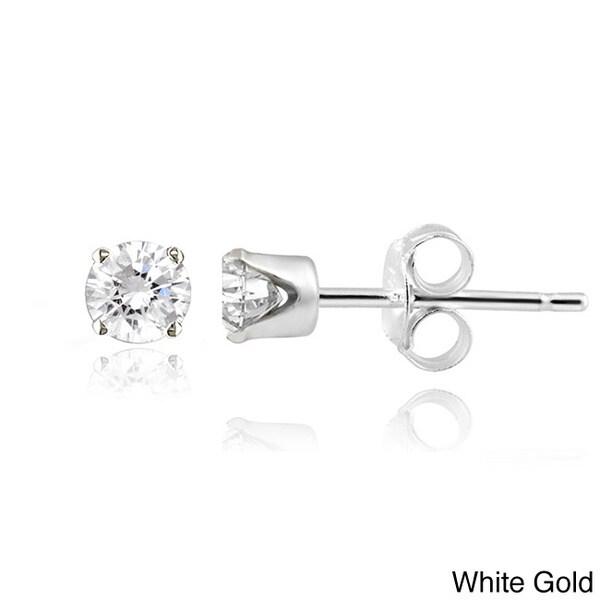 14k Gold 1/4ct TDW White Diamond Stud Earrings