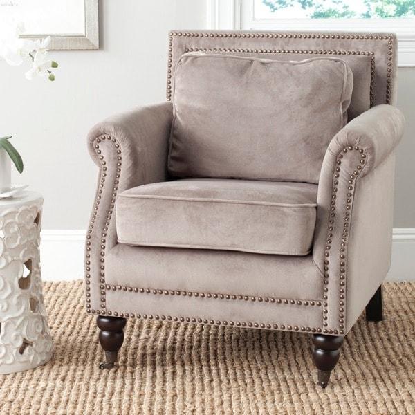 safavieh 'karsen' mushroom taupe club chair  15623249