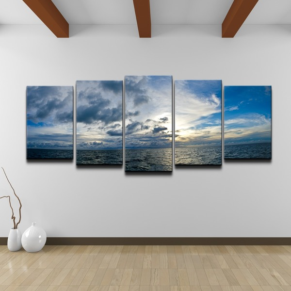 chris doherty 39 sunset at sea 39 5 piece canvas art set 15623488 shopping top. Black Bedroom Furniture Sets. Home Design Ideas