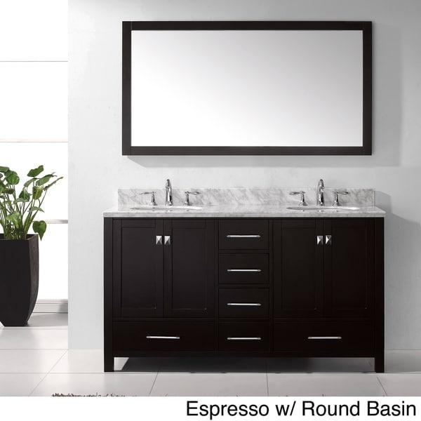 Virtu USA Caroline Avenue 60-inch Double Sink Bathroom ...
