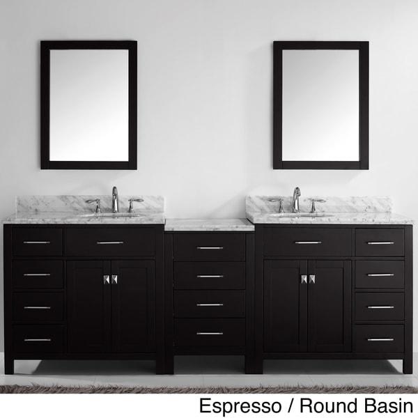 90 Inch Double Sink Bathroom Vanity: Virtu USA Caroline Parkway 93-inch Double-sink Bathroom