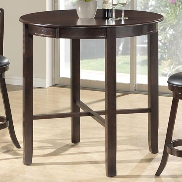 Overstock Bar Table: Cappuccino Ash Veneer 42-inch Diameter Bar-height Dining