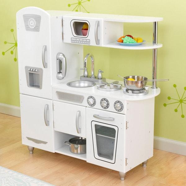 Large Play Kitchen: KidKraft White Vintage Kitchen