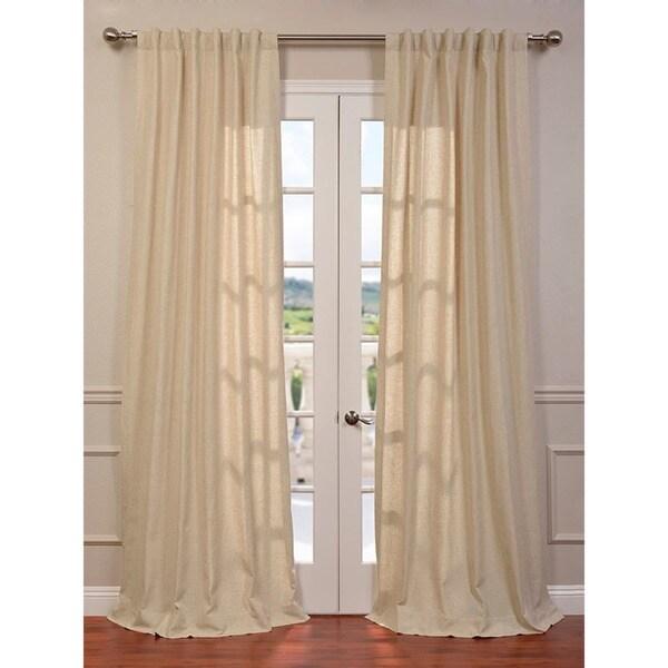 Exclusive Fabrics Hilo Natural Linen Blend Curtain Panel