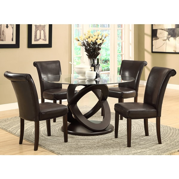 Overstock Dining Room Tables: Dark Espresso 48-inch Tempered Glass Dining Table