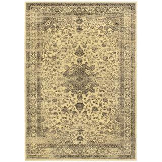 Handmade Ikat Cloud Cream Wool Rug 8 X 10 15344487