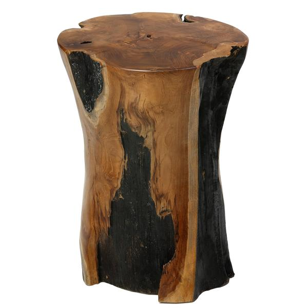 Oak Tree Root Coffee Table: Bare Decor Hourglass Stump End Table