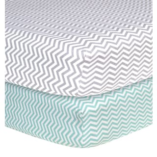 Trend Lab Chevron Flannel Crib Sheets Pack Of 2