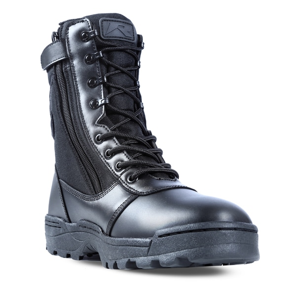 Dura Max Men S Black Leather Composite Toe Zippered Work