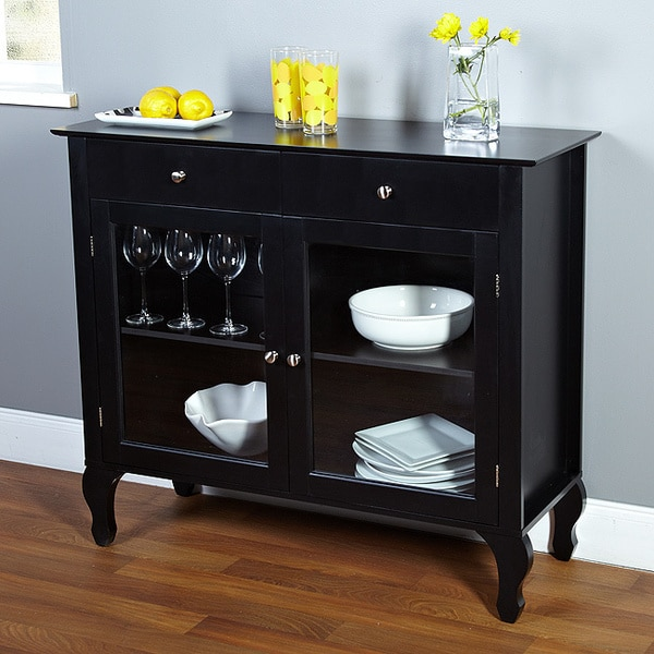 Dining Room Buffet Cabinet: Layla Black Buffet Storage Cabinet Furniture Sideboard