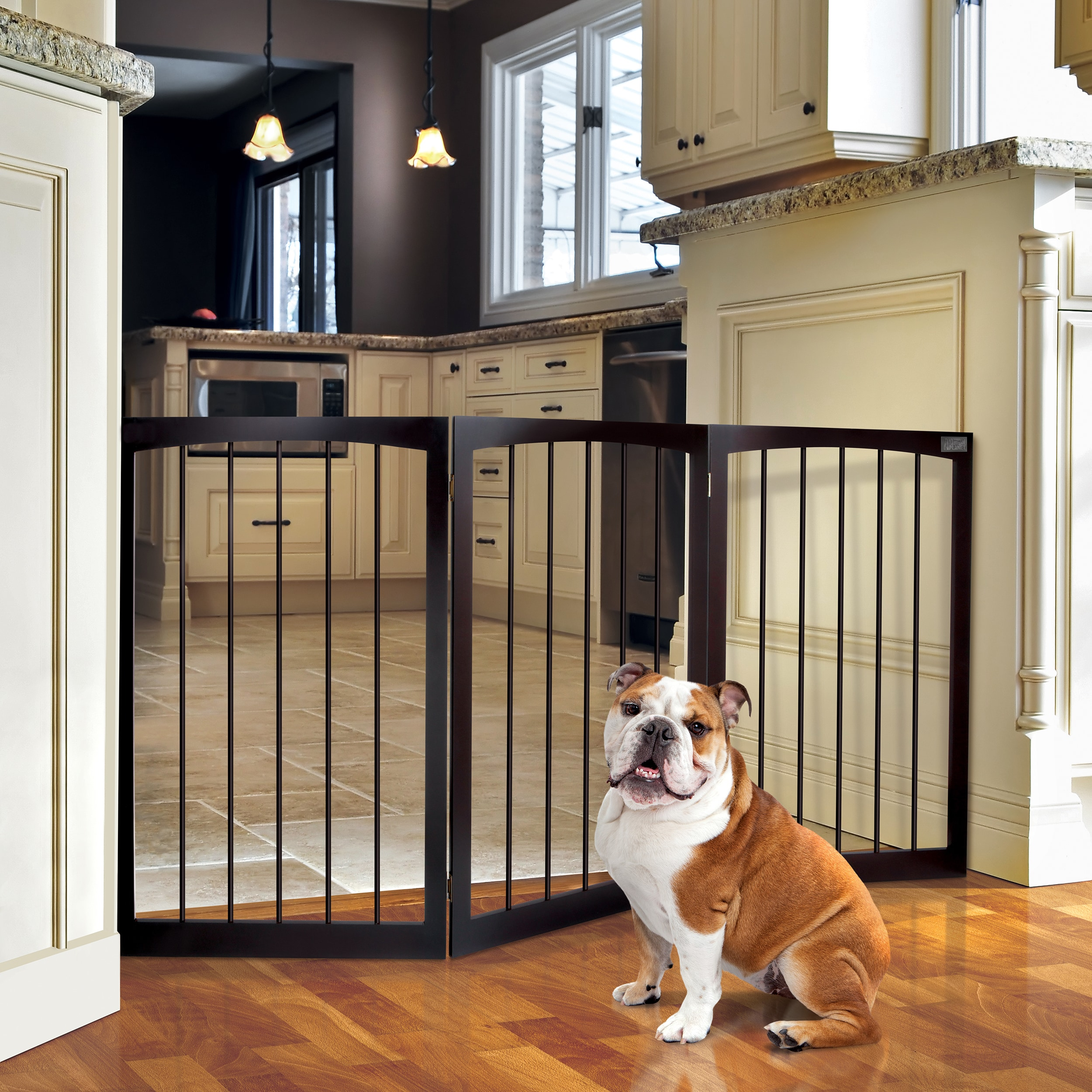 Animal Planet Free Standing Wooden Pet Gate Overstock