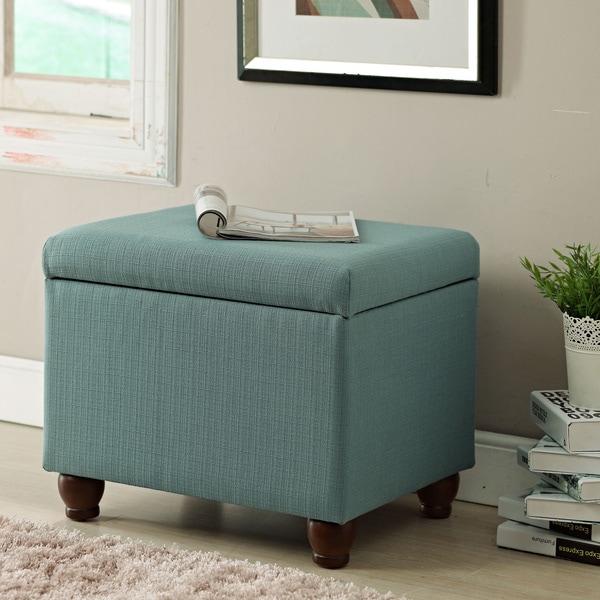Homepop Storage Bench Reviews: HomePop Aqua Textured Medium Storage Bench