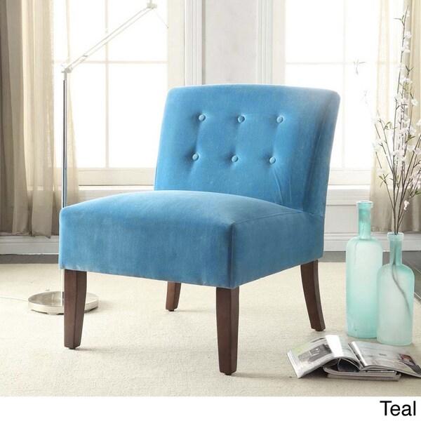 Homepop Velvet Tufted Accent Chair 15661597 Overstock