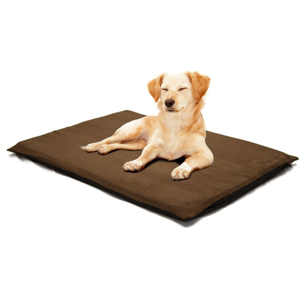 Paw 2 Inch Orthopedic Foam Suede Pet Bed For Large Dogs