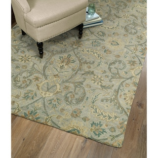 Hand Tufted Alameda Traditional Floral Wool Area Rug 8 X