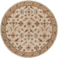 Copper Grove Kavir Hand-tufted Classic Floral Wool Area Rug (8' Round)