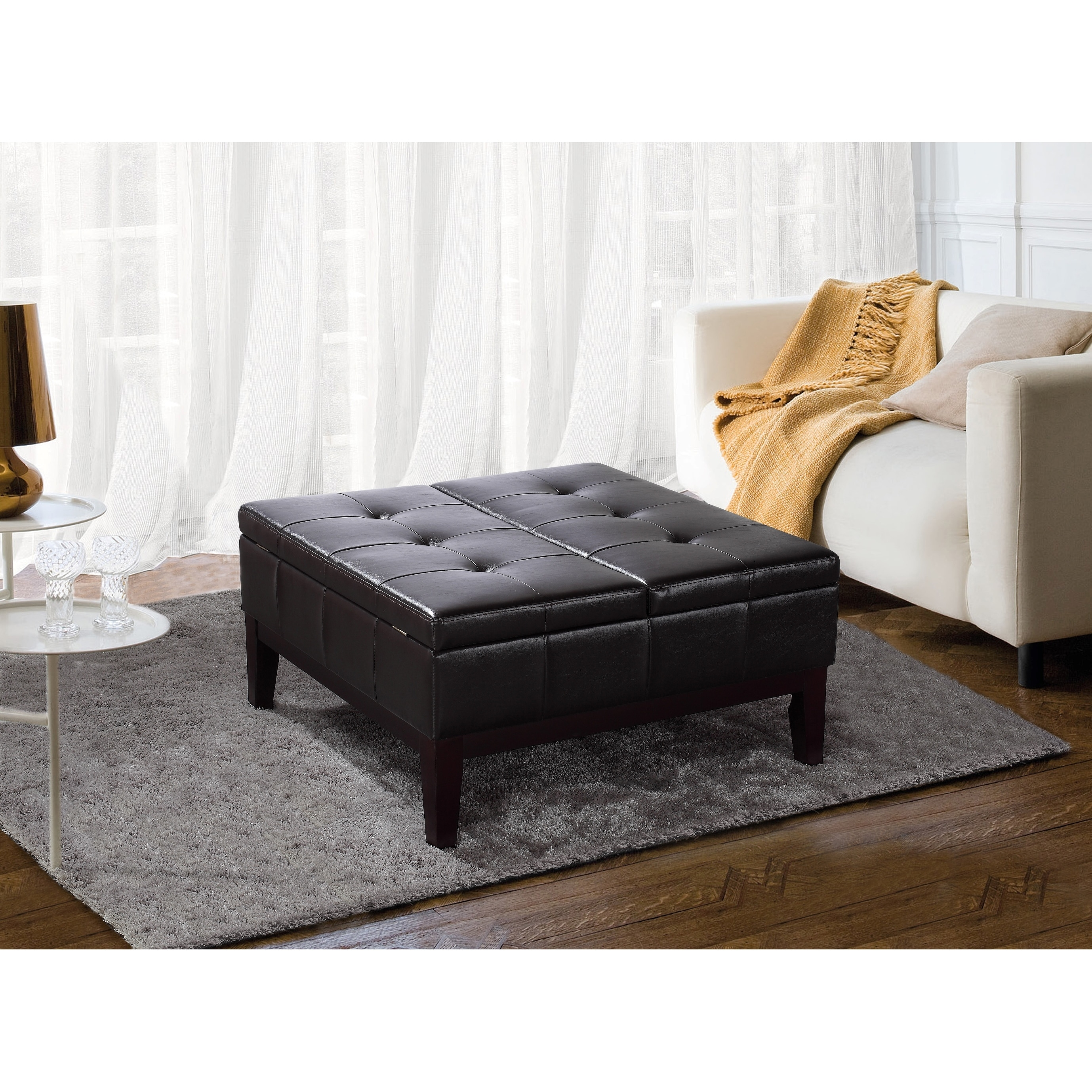 Outstanding Lancaster Square Coffee Table Ottoman And Split Lift Lid Machost Co Dining Chair Design Ideas Machostcouk