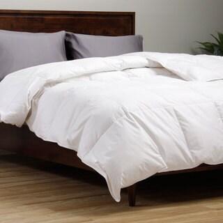 All Season Damask Stripe White Down Comforter 14197856