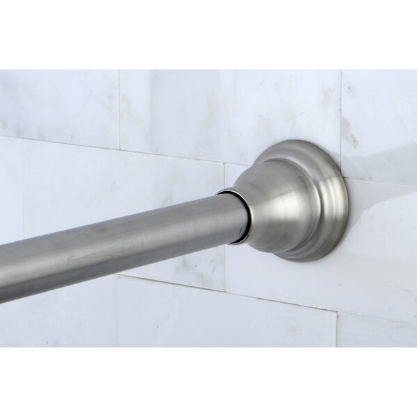 Satin Nickel Adjustable Shower Curtain Rod