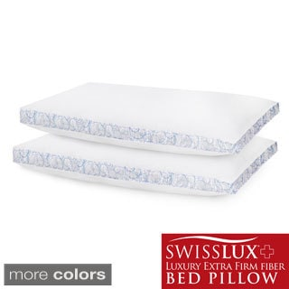 Swiss Lux Gusseted Density Pillows Set Of 2