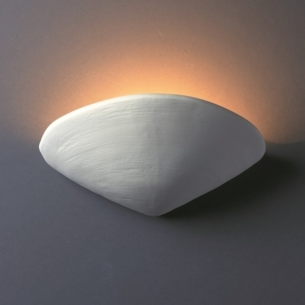 Justice Design Group 1 Light Clam Shell Ceramic Sconce