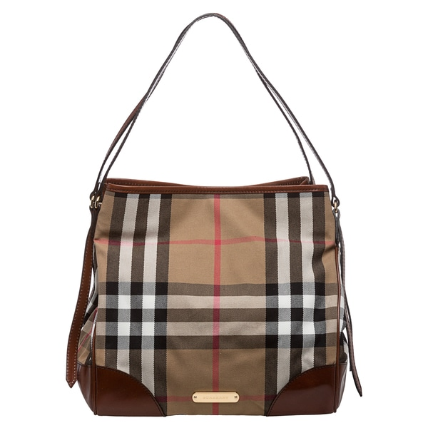 9d7f0e6e782e Burberry Bridle House Check Medium Canterbury Tote on PopScreen