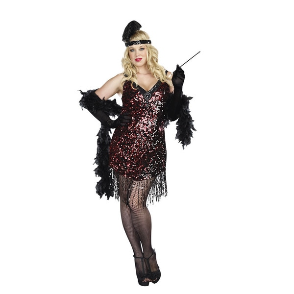 ed06596dd28 Dream Girl Womens Plus Size Dames Like Us 2 piece Flapper Dress Set ...