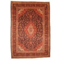Herat Oriental Persian Hand-knotted Kashan Wool Rug - 9'10 x 14'3