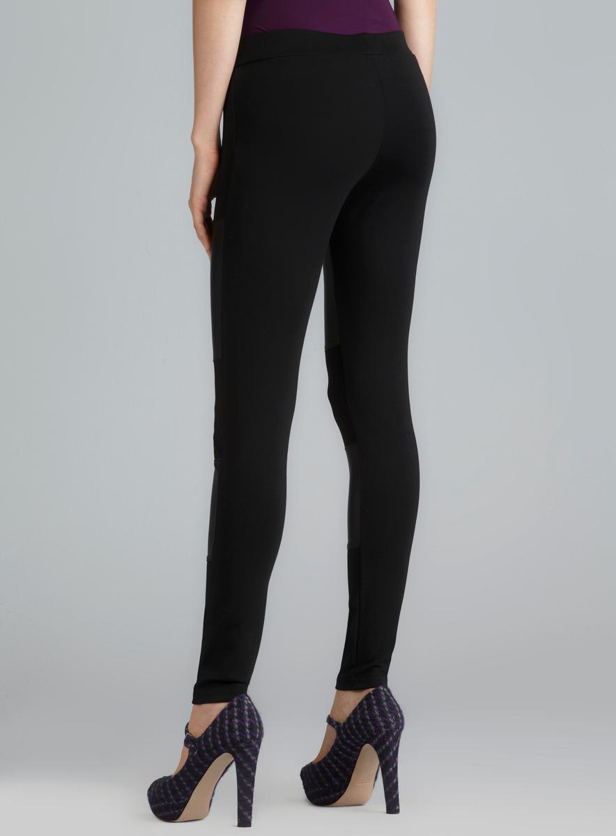 4b7f1ea904303d Romeo & Juliet Couture Faux Leather Panel Ponte Pants Romeo & Juliet Casual  Pants