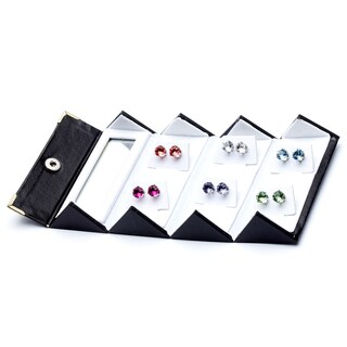 8mm Crystal Stud Earrings Made with Austrian Crystal Elements (Set of 6)