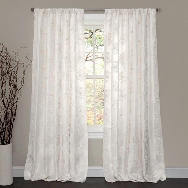 Lush Decor Samantha White 84 Inch Curtain Panel 15678845