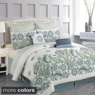 Blossom Blue 8 Piece Comforter Set 15447144 Overstock
