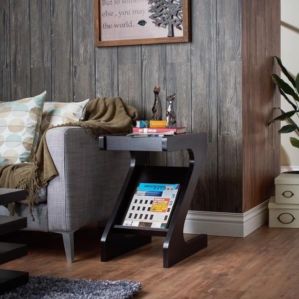Furniture Of America Enzo Modern Black Tinted Tempered