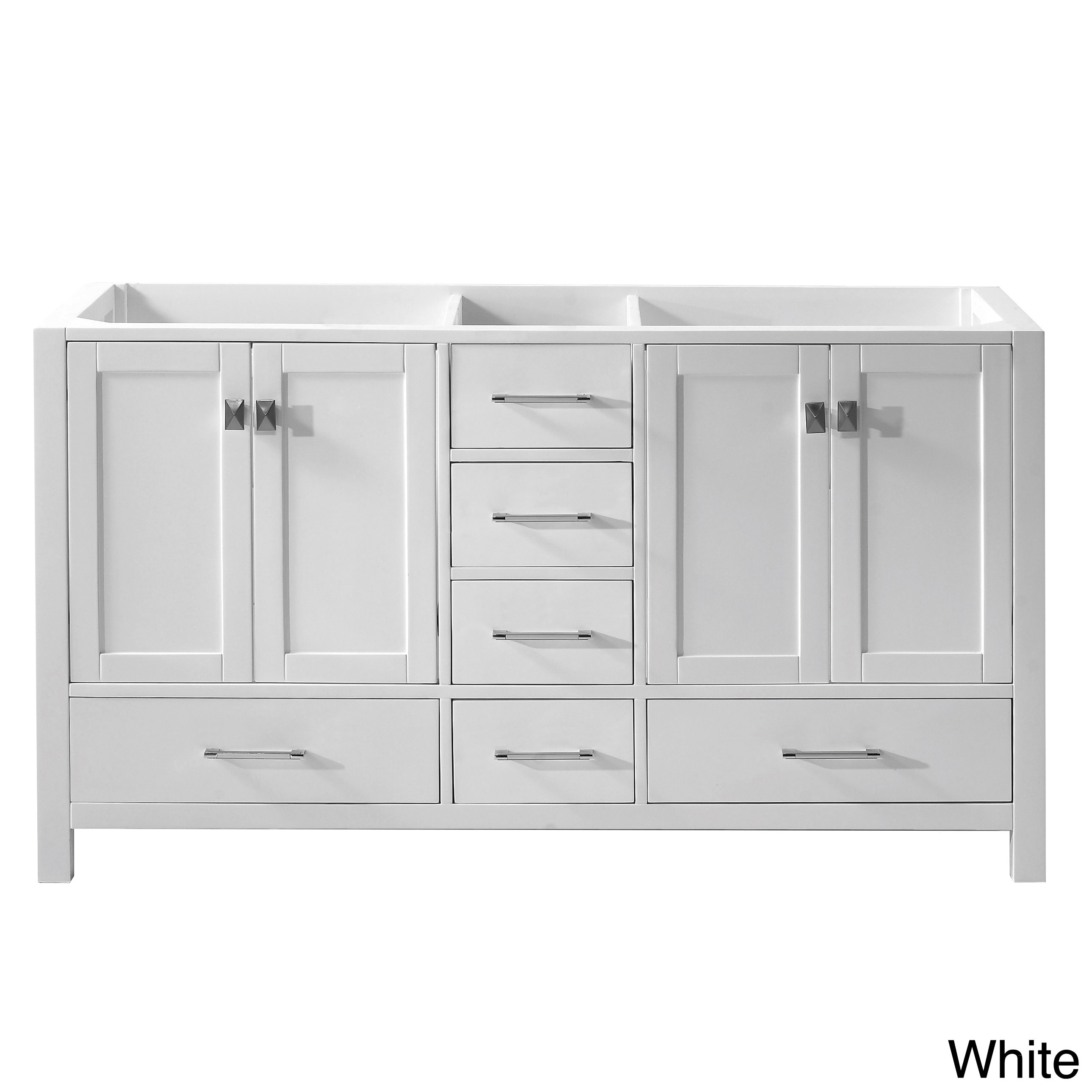 Virtu usa caroline avenue 60 inch double sink bathroom - 60 inch bathroom cabinet single sink ...
