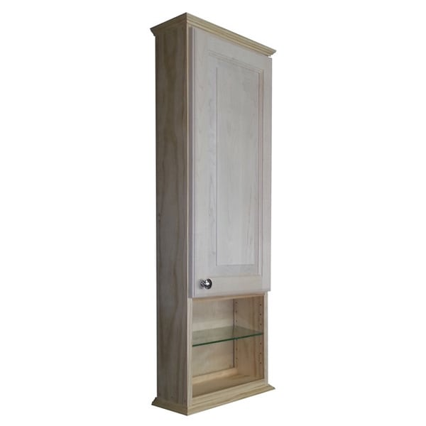 ashley series 42x55inch unfinished wood wall cabinet