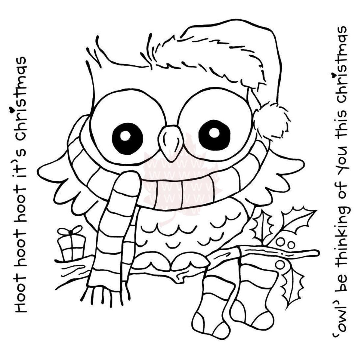 Woodware Clear Stamps 3.75 X4 Sheet - Christmas Hoot ...