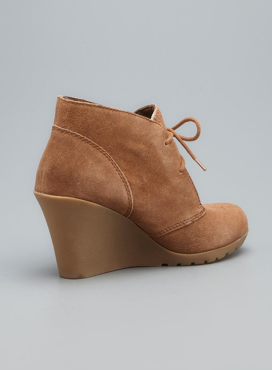 White Mountain Icon Suede Wedge Bootie Overstock