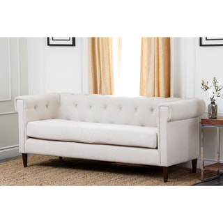 Buy Sale Abbyson Living Colin Ivory Tufted Fabric Sofa Dloiest