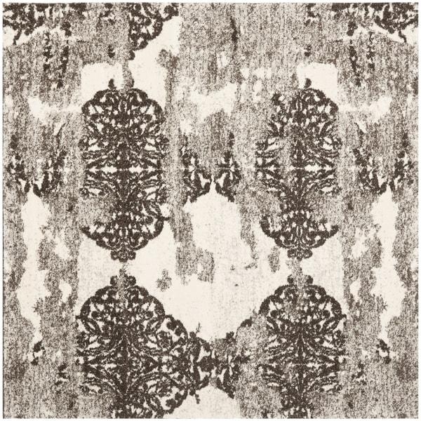 Retro Modern Rug: Safavieh Retro Modern Abstract Beige/ Light Grey Rug (8